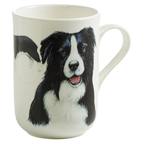 Maxwell & Williams Pets Border Collie Hund, Geschenkbox, Porzellan, PB0705 Becher, schwarz, weiß, 10.5 x 7.5 x 10.5 cm
