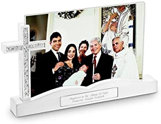 Things Remembered Personalized Cross Float Frame, Religious Cross Picture Frame with Engraving Included
