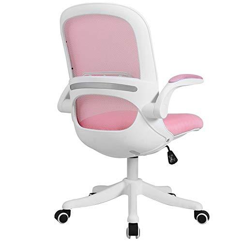 ZXN RTU Relax Sillas de escritorio cómodas, de malla económica, silla de oficina ergonómica, respaldo medio, silla giratoria de 360°, ajuste de altura con asiento de malla