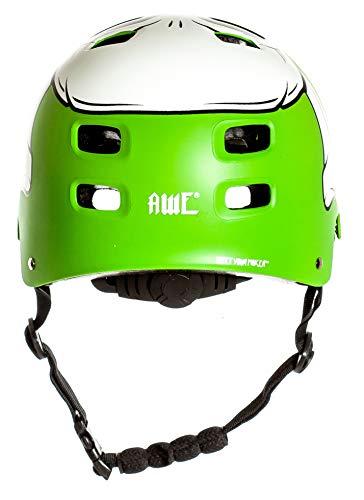 AWE® MEET YOUR MAKERTM BMX Helm Grün 55-58cm FREIES 5 JAHR CRASH ERSATZ * - 6