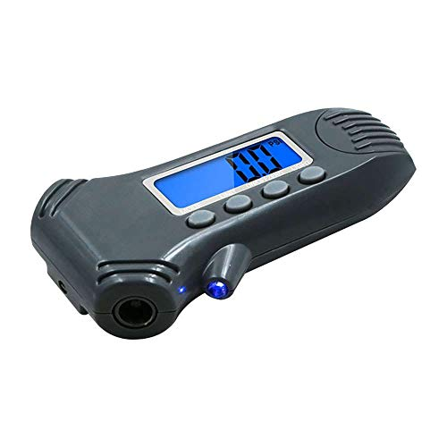 Loriver Medidor de presión de neumáticos, medidor de Profundidad de neumáticos 3 en 1 con Regla de retroiluminación Pantalla Digital Medidor de presión de neumáticos de Coche