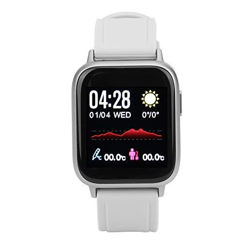 DAUERHAFT Reloj de Pulsera de Fitness con Hardware portátil y Modo multideportivo, para Caminar, Correr, Andar en Bicicleta, Escalar montañas(Silver)