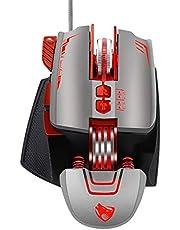 QZVOO Gaming Maus Gaming Mouse PC RGB Gamer Maus mit Kabel Computermaus Laptop Maus 8-Tasten Programmierbar Gaming mäuse 1200-3200 DPI Ergonomische Mouse für Laptop zubehör PS4