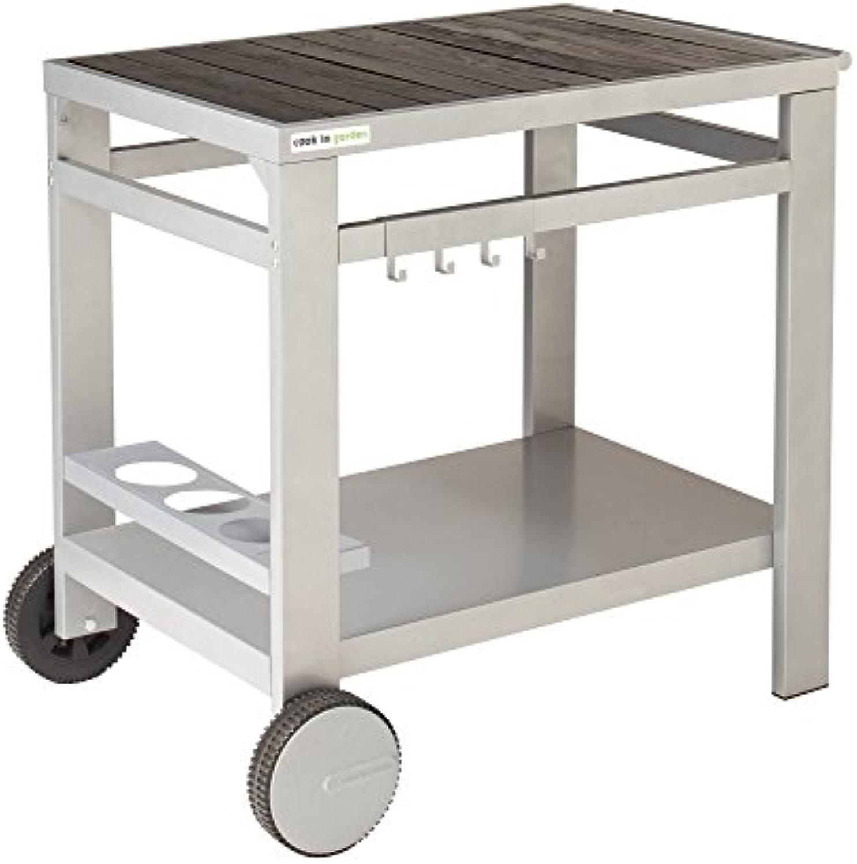 VERYCOOK Grillwagen aus Holz und Metall