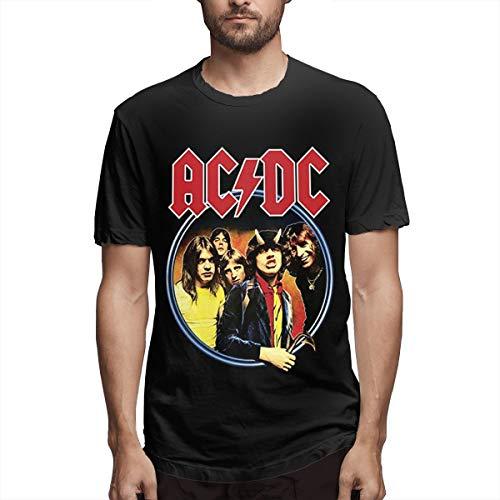 Hazelknorton korte mouwen Elegant ACDC heren Cool Graphic Black T-shirt