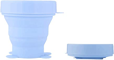 Preisvergleich für Ogquaton Faltender Cup, Abnehmbarer Silikon-Cup für Hauptreise-Gebrauch Sterilisation der Menstruation Cups und Haltens-Becher faltender Silikon-Cup 1 Stück Silikon-Cup