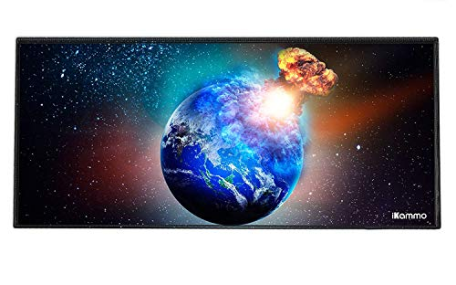 Large Gaming Mouse Pad/Mat Extended Computer Mouse Pad Large Desk Pad XXL Big Office Desk Mouse Mat/Pad with Waterproof Surface-Optimized Gaming Surface 35'x15.7'x0.08'(XXL-041, Burning Earth)