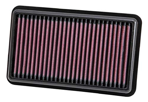 K&N Engine Air Filter: High Performance, Premium, Washable, Replacement Filter: Fits 2011-2017 HYUNDAI/KIA (Picanto, i10), 33-3000