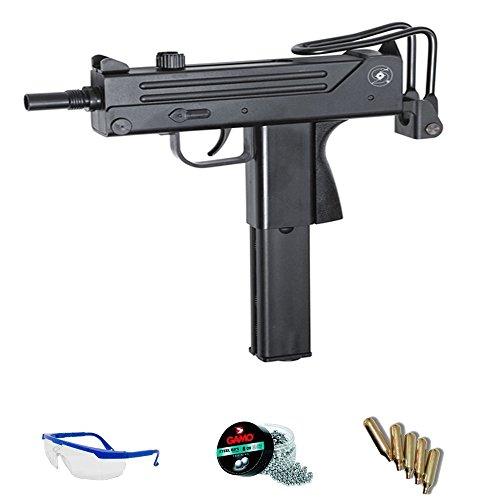 Cobray Ingram Kit ASG M11 - Pistola de Aire comprimido (CO2) y balines de Acero (perdigones BBS) Calibre 4.5mm. Réplica Mac 11 + Accesorios <3,5J