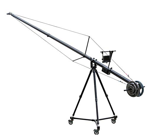 PROAIM 6m/20ft Fraser Traveller Camera Jib Crane Tripod Dolly for Gimbals/Pan-tilt Heads, DSLR Video Camera Camcorder | Aluminum Made, Strong Yet Light, 10kg/22lb Payload + Carrying Bag (PF-3TR-JTD)