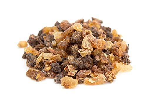 Premium Myrrhe zum Räuchern und Verbrennen auf Räucherkohle, reines Harz grob gemahlen, original Luxflair® Räucherwerk in der 50g Packung
