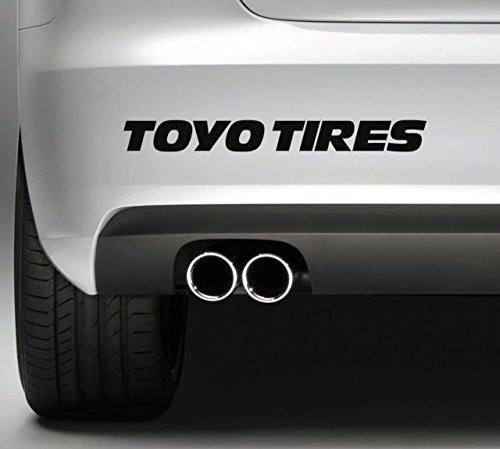 2x Toyo Tires Aufkleber für Auto,Scheibe, Lack,Wand,Wandtattoo aus Hochleistungsfolie für alle glatten Flächen von myrockshirt® Autoaufkleber Tuning Decal Sticker