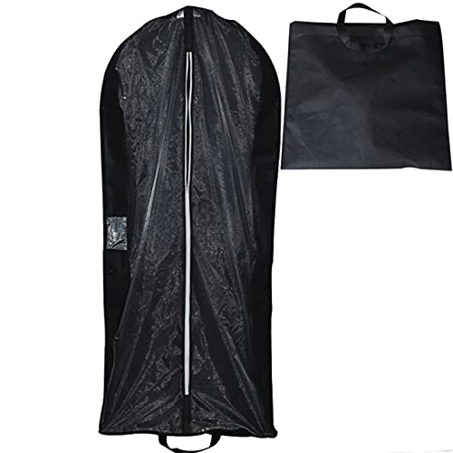 ZHYHAM Cremallera portátil cubierta de polvo ropa novia bata larga ropa protección caja dustpare traje vestido de boda bolsa