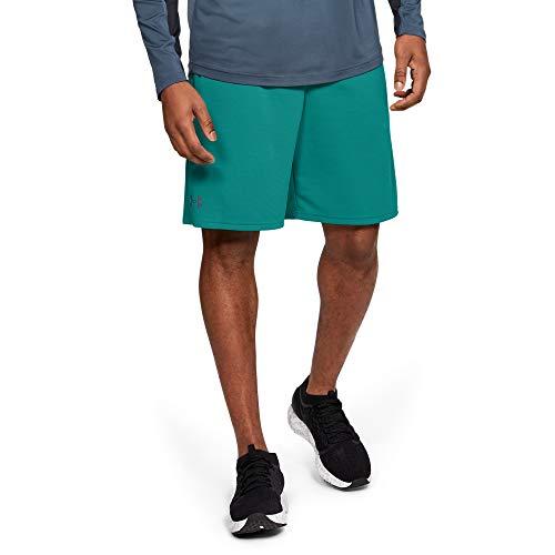 Under Armour UA Tech Mesh Short Pantalones Cortos, Hombre, Verde (Teal Rush/Pitch Gray 454), XL