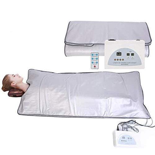 WGIRL Body Shaper Gewichtsverlust Weit Infrarot-Sauna-Decke, 2-Zonen-Controller Professionelle Detox-Therapie Anti-Aging-Schönheits-Maschinenkörper