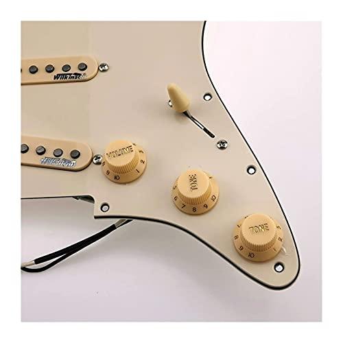 Pastillas de Guitarra Wilkinson WVS 60's Alnico5 SSS Single Coil Guitar Pickups PickGuard Cableing Harness / 1 Set (Color : Green Pickguard)