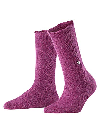 Burlington Damen Cable Boot Socken, lila (crocus 6962), 36-41