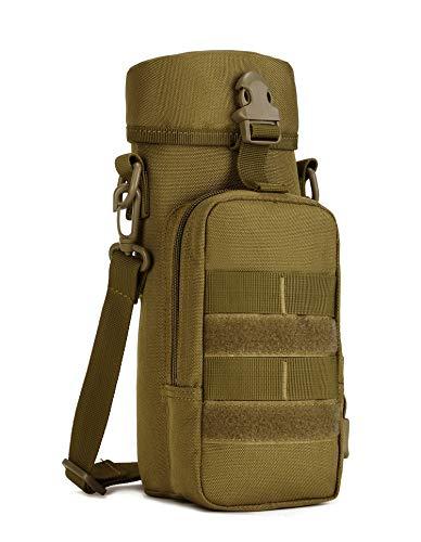 Yakmoo Soporte/Portador para Botella de Agua Estilo Militar Táctico 900D Nylon Molle Sistema Bolsa de Botella Impermeable 800ml al Aire Libre