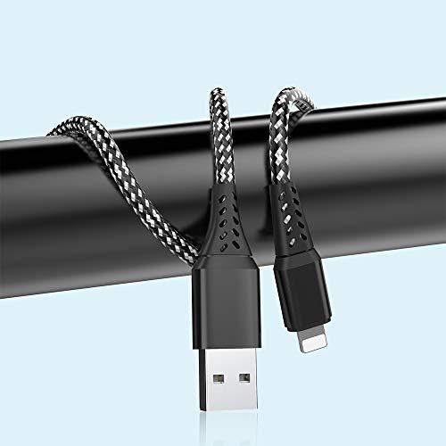 Cable de carga USB A a Lighting, 1 m, nailon, carga rápida...