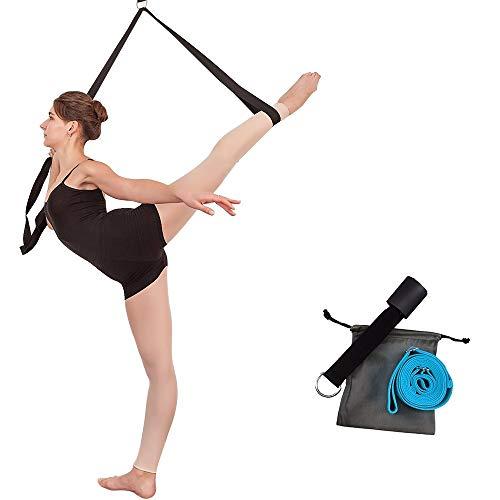 Beinstrecker Yoga-Gurt Beinspreizer Fitnessbänder mit Türanker Schlagpolster für Yoga,Ballett,Tanzen & Gymnastik (blau)