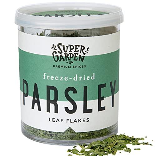 Super Garden Gefriergetrocknete Petersilie - Kräuter Und Gewürze In Premiumqualität - 100% Rein Und Natürlich - Für Veganer Geeignet - Ohne Künstliche Zusatzstoffe Und Konservierungsmittel
