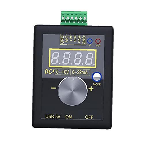 0/4-20MA Generador de señal de voltaje de corriente, DC 0-10V Interfaz de fuente de alimentación USB Simulador analógico para PLC y depuración del panel, Convertidor de frecuencia 1pc