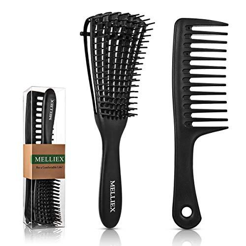 Entwirrbürste Haarbürste Extensions Haar Bürste Entwirrungsbürste mit Breiter Zahnkamm für Afro Locken Lange Nass Trocke Haare