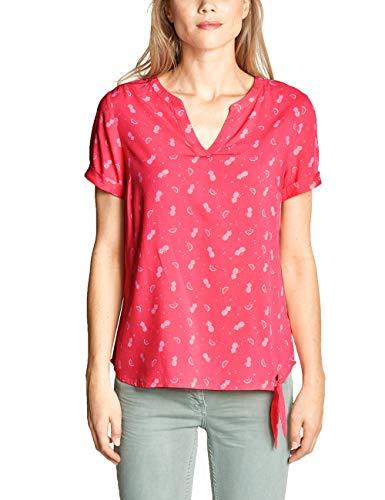 CECIL Damen 341456 Bluse per pack Mehrfarbig (neo coralline red 21664), XX-Large (Herstellergröße:XXL)