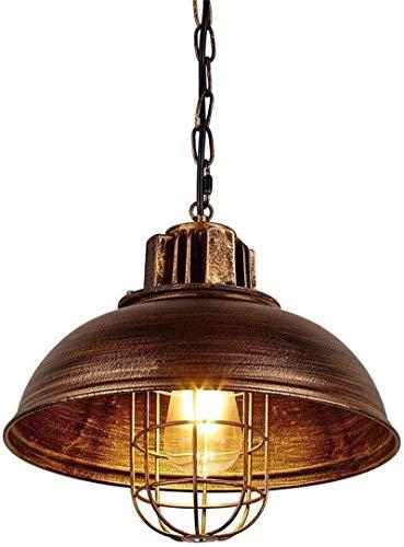 Hanglamp Vintage Kroonluchter Hoogte Verstelbare Eettafel Lamp E27 Industriële Retro Metalen Hanger Lamp voor Eetkamer Woonkamer Keuken Café (Kleur : Brons)