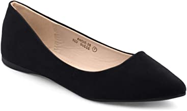 Bella Marie BellaMarie Angie-28 Women's Classic Pointy Toe Ballet Flat Shoes