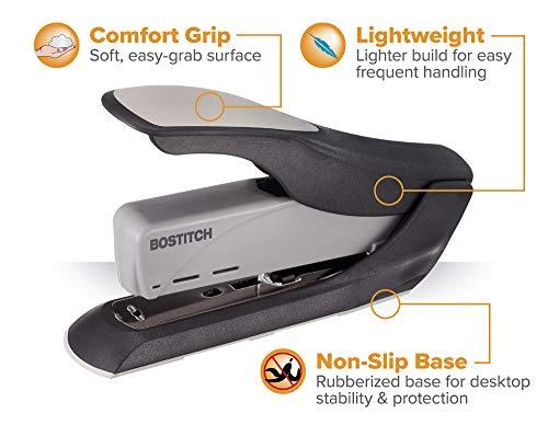 Bostitch 60 Sheet Heavy Duty Stapler - Two Fingers, No Effort, Spring Powered Stapler - Gray (1200) Photo #5