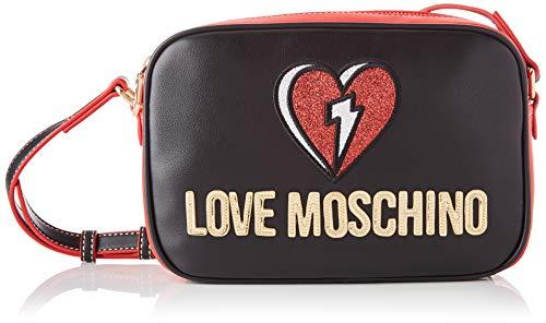 Love Moschino JC4257PP0BKJ0, Bandolera para Mujer, Negro, Normale