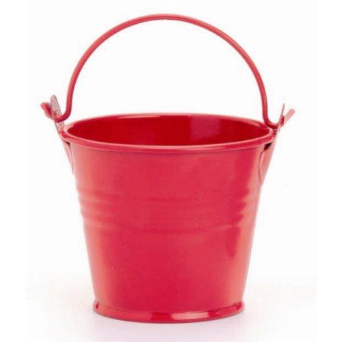 GLOREX Seau en métal, rouge, 6 x 6 x 6 cm