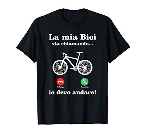 Divertente Downhill Mountainbike Ciclismo La Mia Bici Maglietta