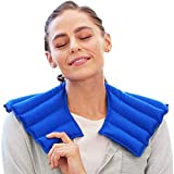 My Heating Pad Microwavable for Neck and Shoulders Pain Relief Moist Heat Heating Pad Neck Warmer   Target Muscle, Joint, Stress and Tension Relief (Blue)