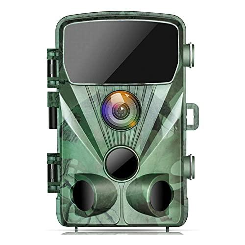 TOGUARD Cámara De Caza 20MP 1080P Impermeable Cámara De Vigilància, Con Vision Nocturna Gran Angular De 130° Detección De Movimiento Cámara Foto Trampa, 0.3S Velocidad De Disparo 2.4 \