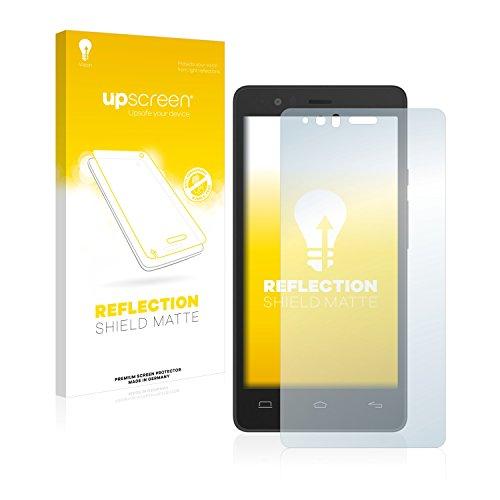 upscreen Entspiegelungs-Schutzfolie kompatibel mit BQ Aquaris E5s – Anti-Reflex Bildschirmschutz-Folie Matt