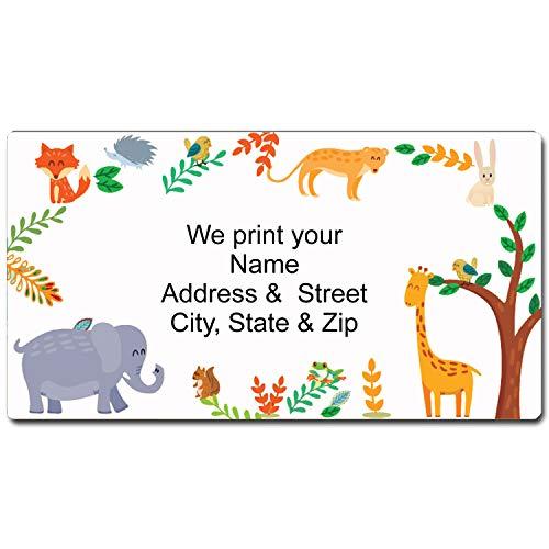 Animals Address Label - Customized Return Address Label - 90 Kids Labels