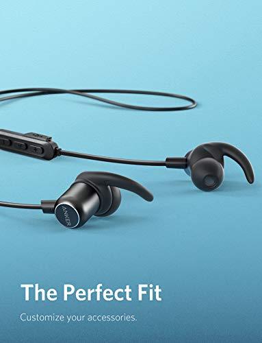 Auriculares Bluetooth, Anker SoundBuds Slim + Auriculares inalambricos, Bluetooth 4.1 Auriculares estéreo livianos, Auriculares Deportivos con Carcasa metálica y micrófono Incorporado (Negro)