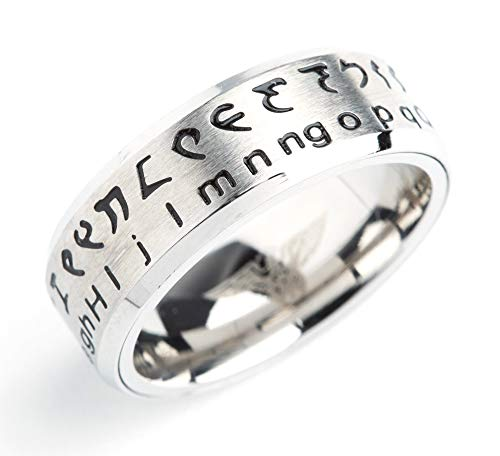Retroworks Klingon Translator Ring Silver (US Size 06) Extra Small