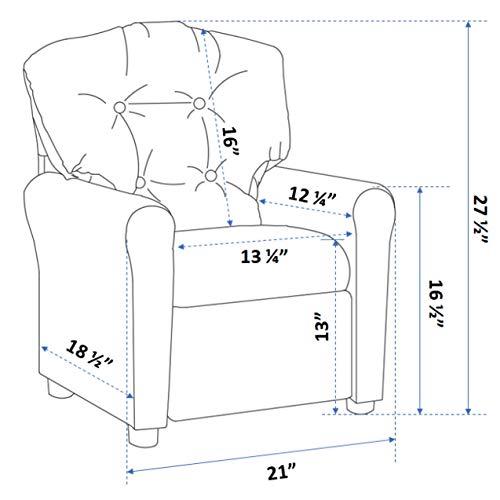 Crew Furniture Traditional Kid Microfiber Recliner