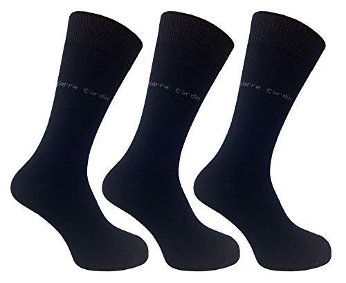 Pierre Cardin Herren Socken, atmungsaktiv, weiches Gefühl, Wadensport, Outdoor-Aktivitäten, 3er-Pack, mit gepolsterter Sohle, verstärkter Ferse und Zehenbereich, Größe 40-45 Gr. 40-45, navy