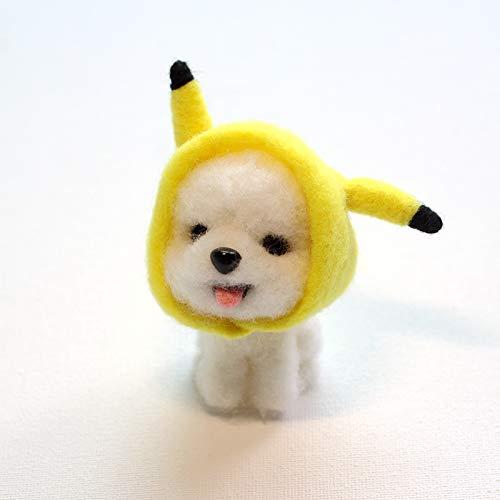 Qitao Wolle Nadel Filz Hundewolle Nadel Gefühl Spielzeug Poke Tiere DIY Craft Kit Handgemachtes Niedliches Tier Filz Material Paket for Kinder Heißer (Color : 6)