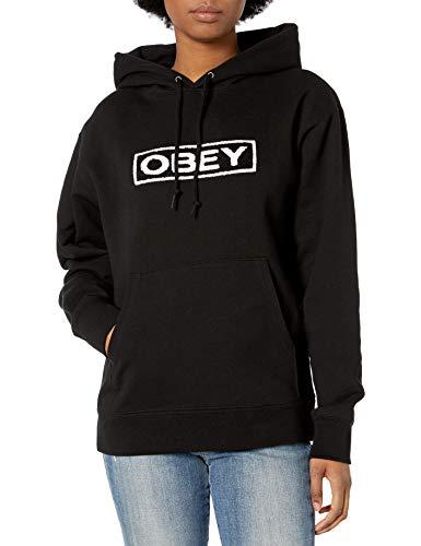 Obey Damen Jawbreaker Hood Kapuzenpulli, schwarz, X-Klein