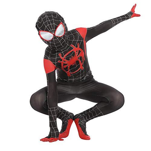 TOYSSKYR Costumi Elastici per Costumi di Halloween con Tuta Elasticizzata New Age Spider-Man (Colore : Nero, Dimensioni : XL)