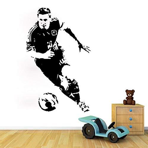 Wandkunst Fußballspieler Wandaufkleber Dekoration Vinyl Tapete Kunst Sport Fan Geschenk Wandmalerei 42 cm X 68 cm