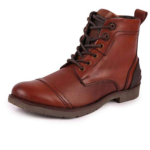 FAUSTO Men's Ankle Leather Long Boots