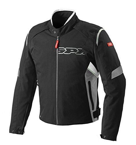 SPIDI D160-836 Motorrad Textiljacke Flash H2Out Schwarz/Grau/Weiß, XL