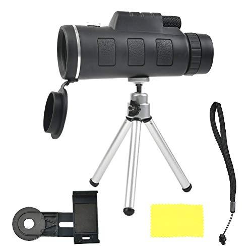 YANSHON Monokulares, Mono Teleskope, 10 X Vergrößerung, HD Teleskope, Monokulares Fernrohr mit Stativ für Klettern, Wandern, Jagd, Vogelbeobachtung