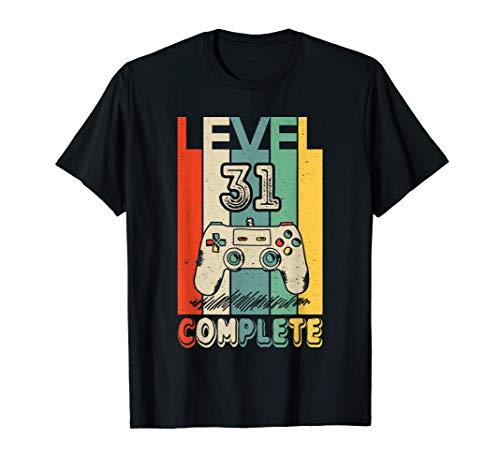 31 Anni Compleanno Uomo Donna Regalo Divertente Level 31 Maglietta